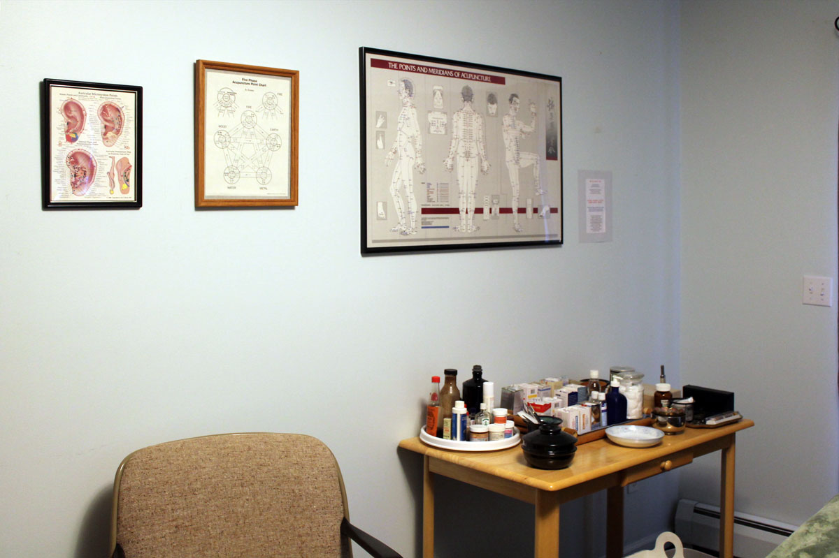 Acupuncture treatment room wall posters