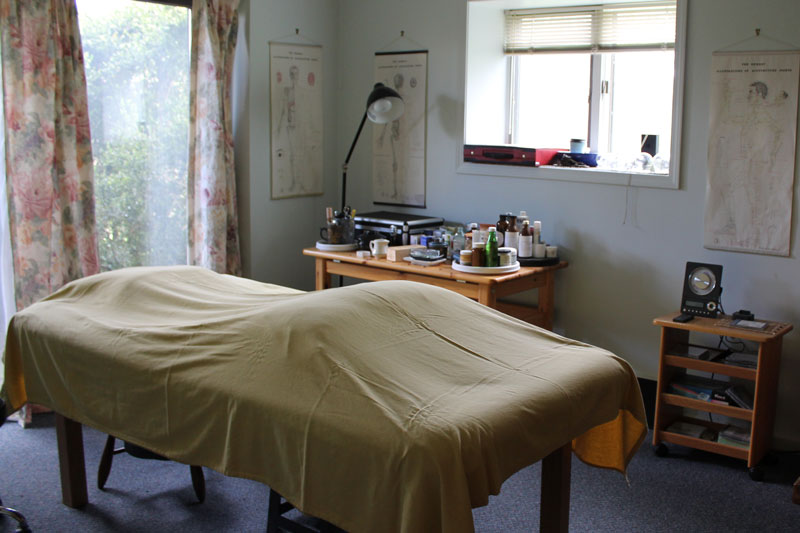Treatment room at Peaceful Spirit Acupuncture, Ithaca NY